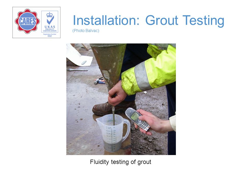 Installation: Grout Testing (Photo Balvac)