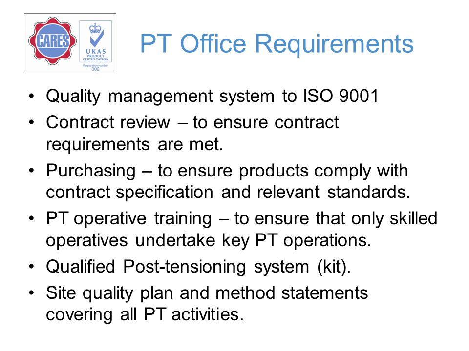 PT Office Requirements