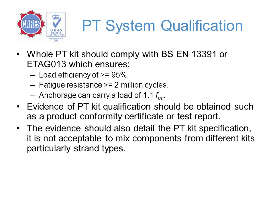 PT System Qualification