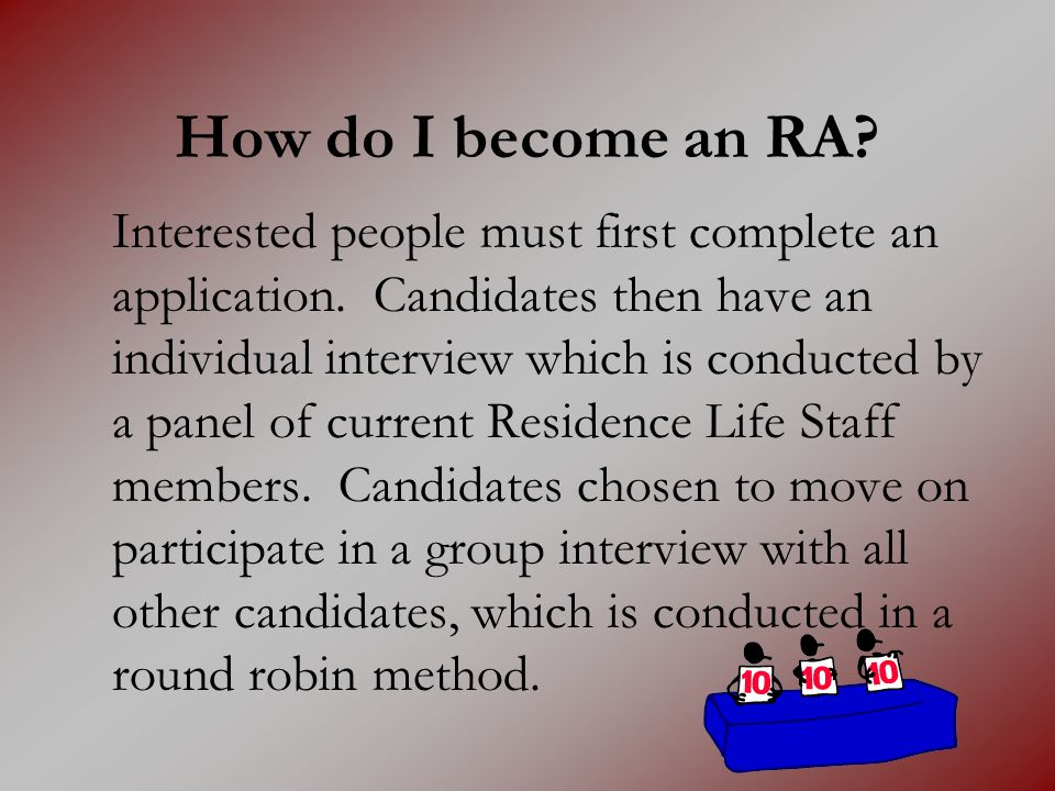 How do I become an RA