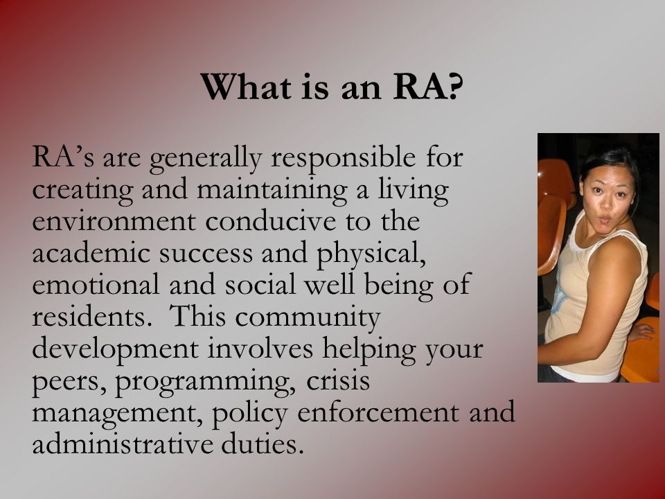 What is an RA
