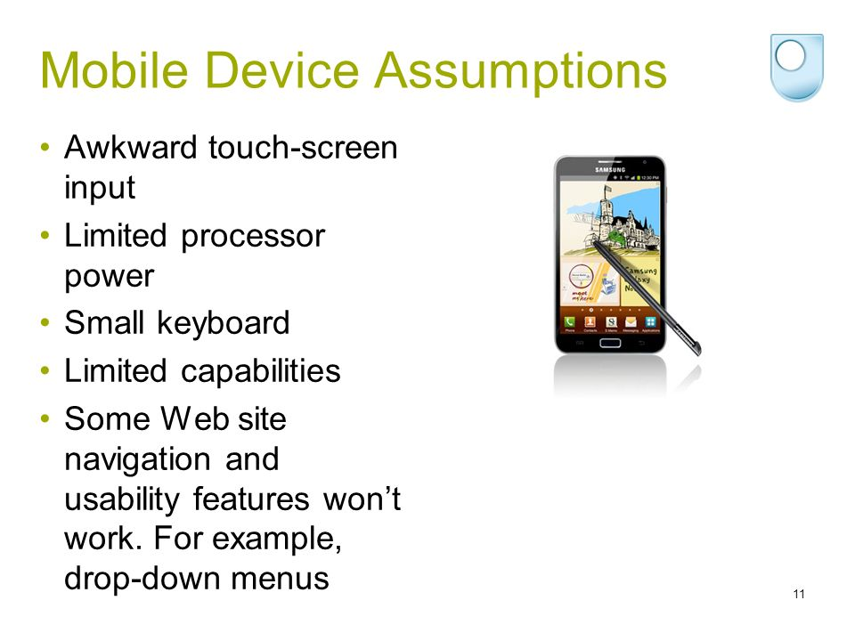 Mobile Device Assumptions