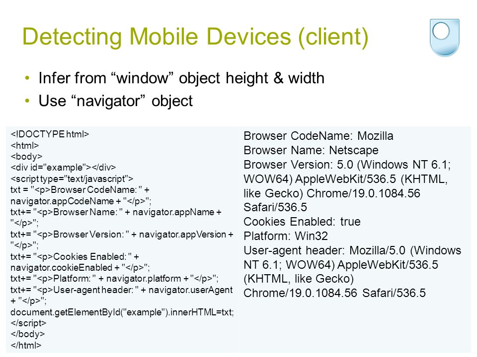 Detecting Mobile Devices (client)