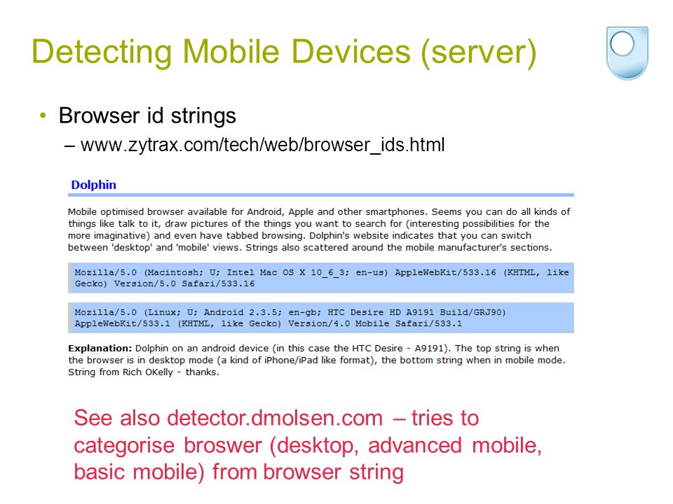 Detecting Mobile Devices (server)