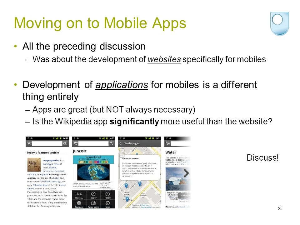 Moving on to Mobile Apps