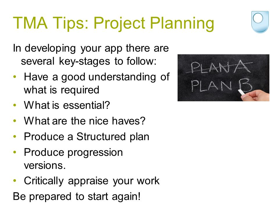 TMA Tips: Project Planning