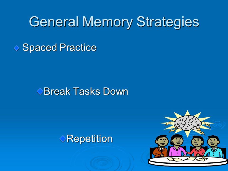 General Memory Strategies