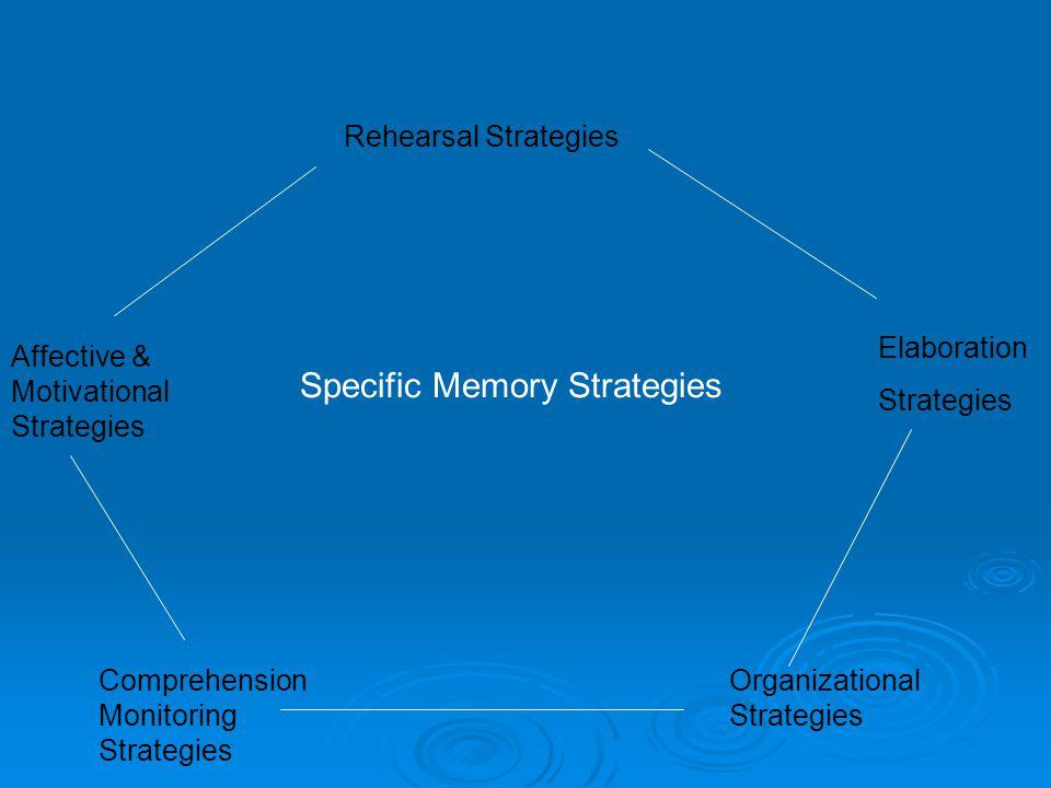 Specific Memory Strategies