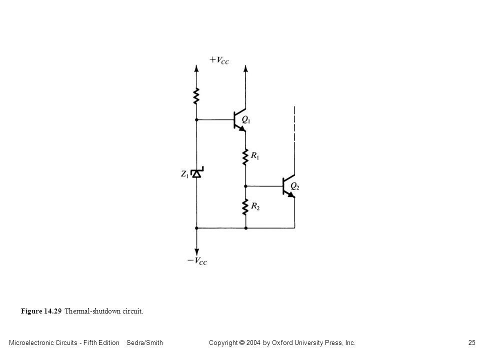 sedr42021_1429.jpg Figure 14.29 Thermal-shutdown circuit.