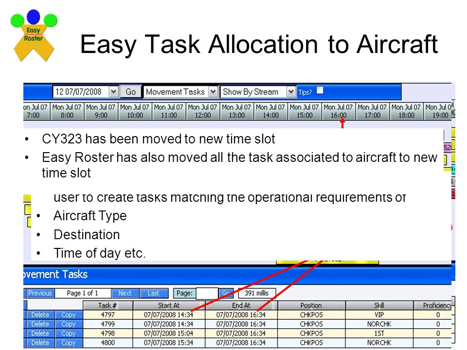 Easy Task Allocation to Aircraft