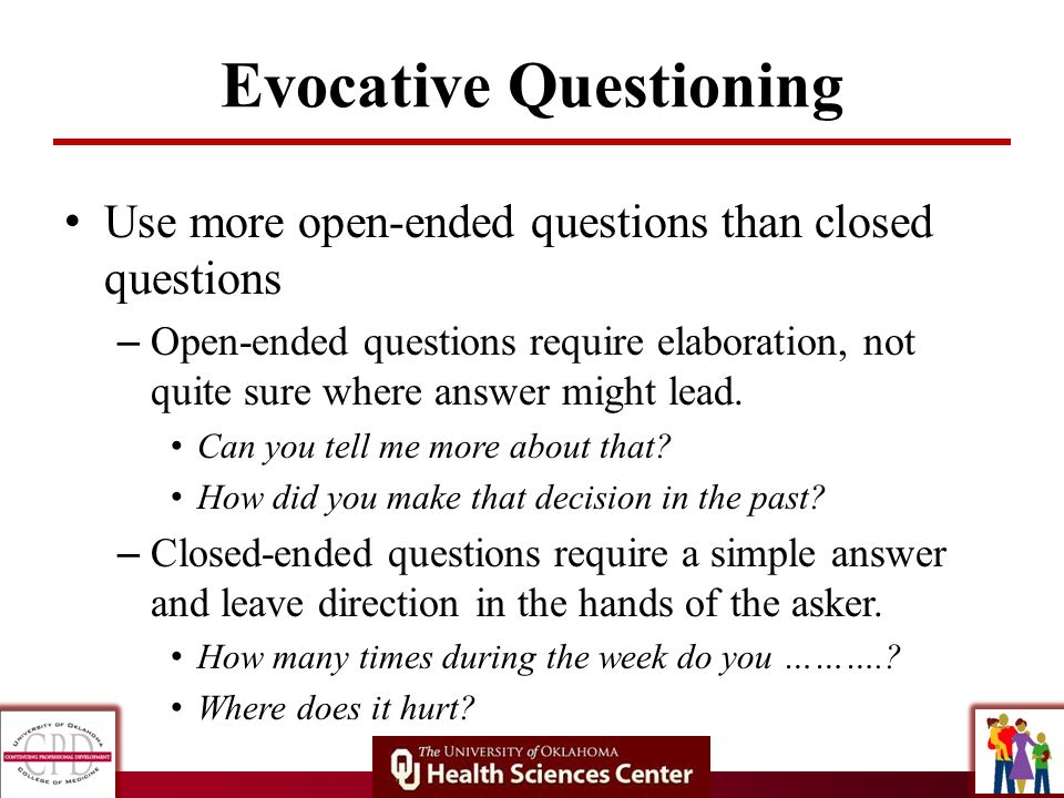 Evocative Questioning