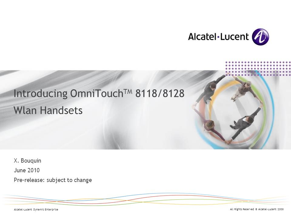 Introducing OmniTouchTM 8118/8128 Wlan Handsets