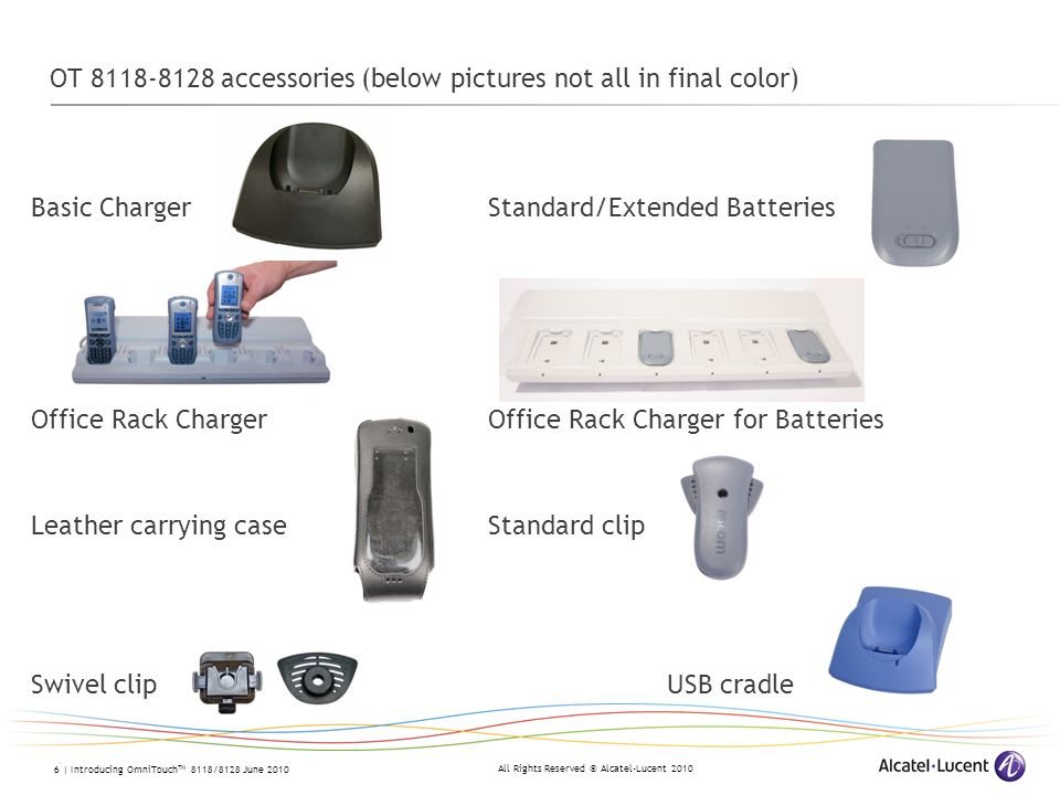 OT 8118-8128 accessories (below pictures not all in final color)