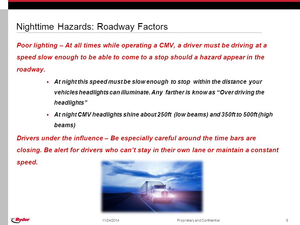Nighttime Hazards: Roadway Factors