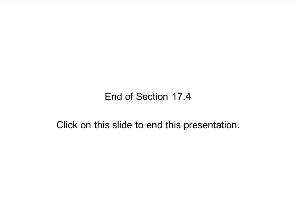 End of Section 17.4 Click on this slide to end this presentation.