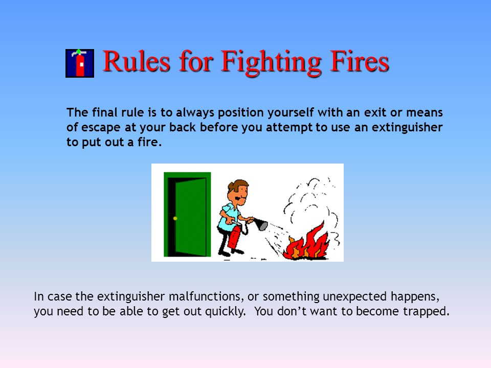 Rules for Fighting Fires