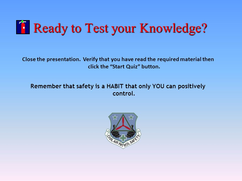 Ready to Test your Knowledge
