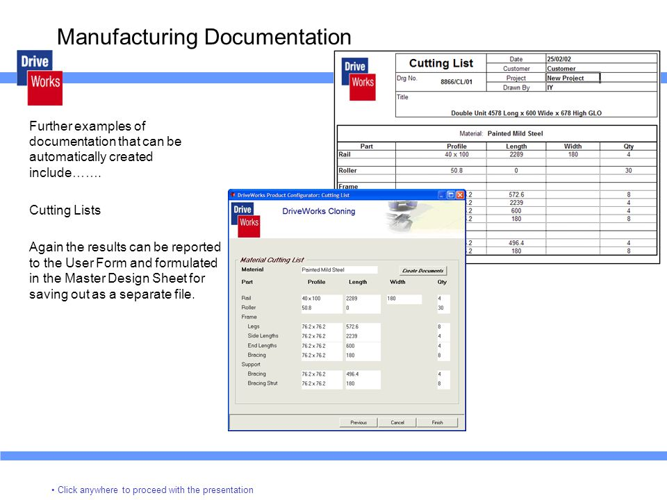 Manufacturing Documentation