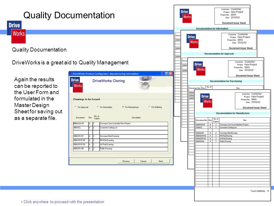 Quality Documentation