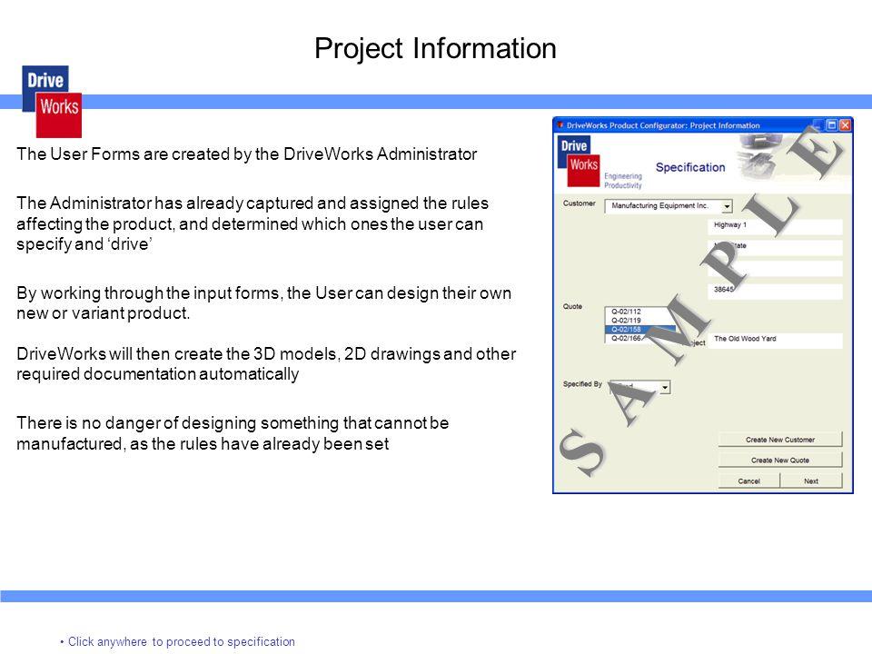 S A M P L E Project Information
