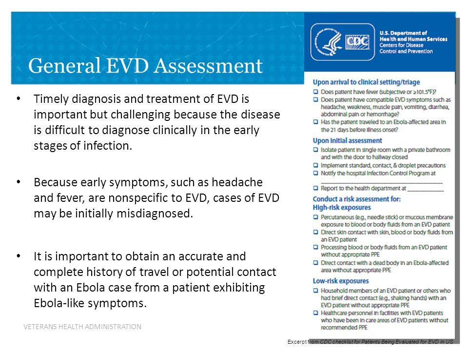 General EVD Assessment