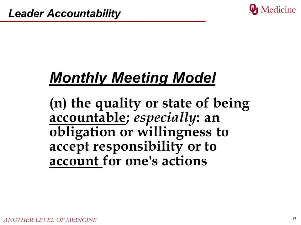 Leader Accountability
