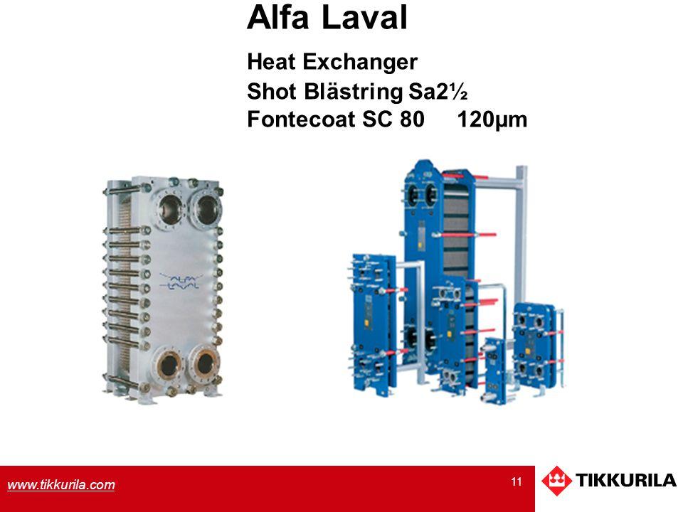 Alfa Laval Heat Exchanger Shot Blästring Sa2½ Fontecoat SC 80 120µm