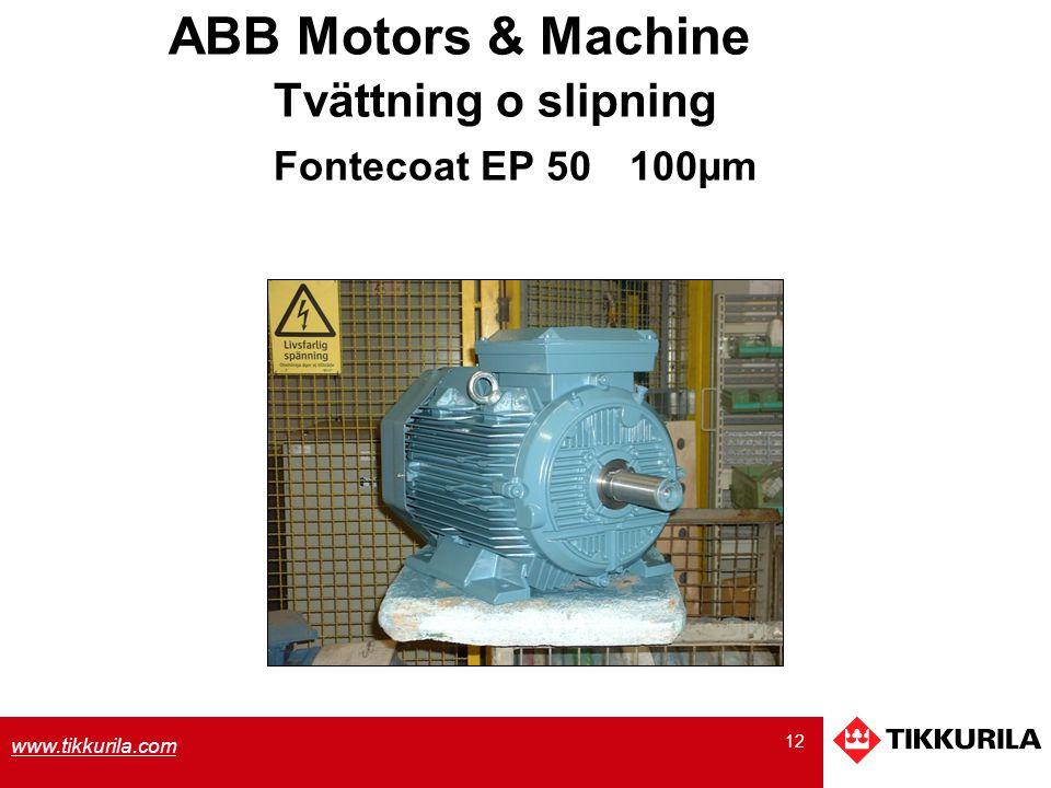 ABB Motors & Machine Tvättning o slipning Fontecoat EP 50 100µm