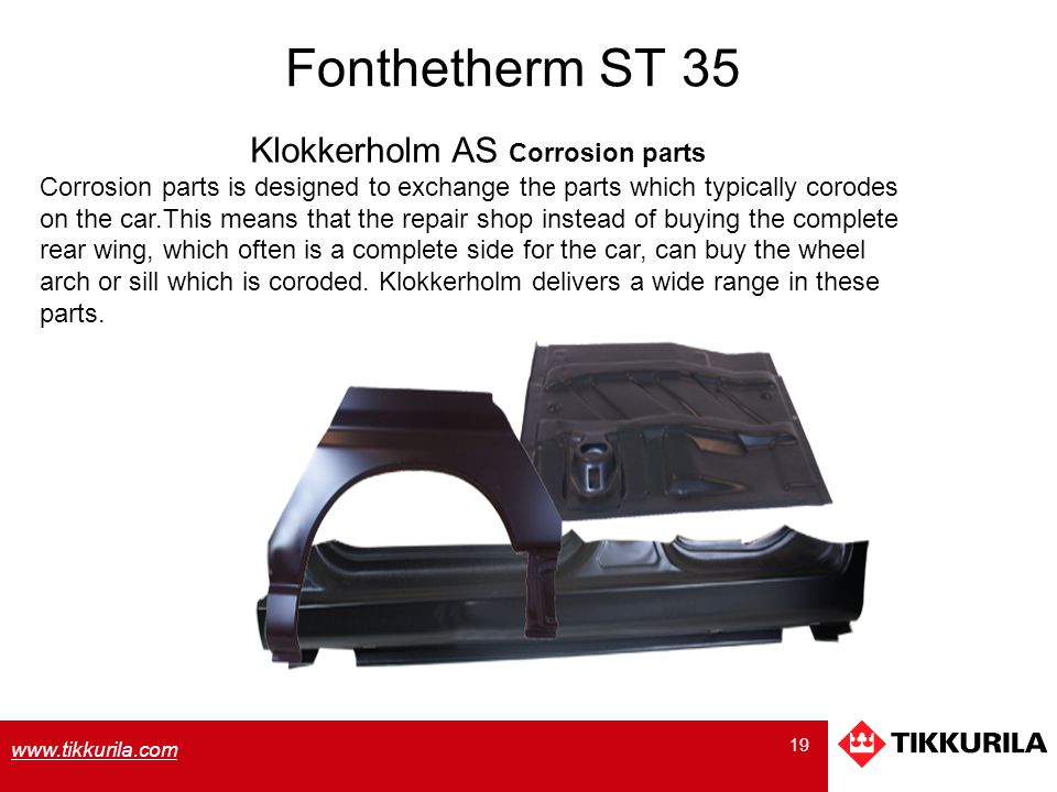 Klokkerholm AS Corrosion parts