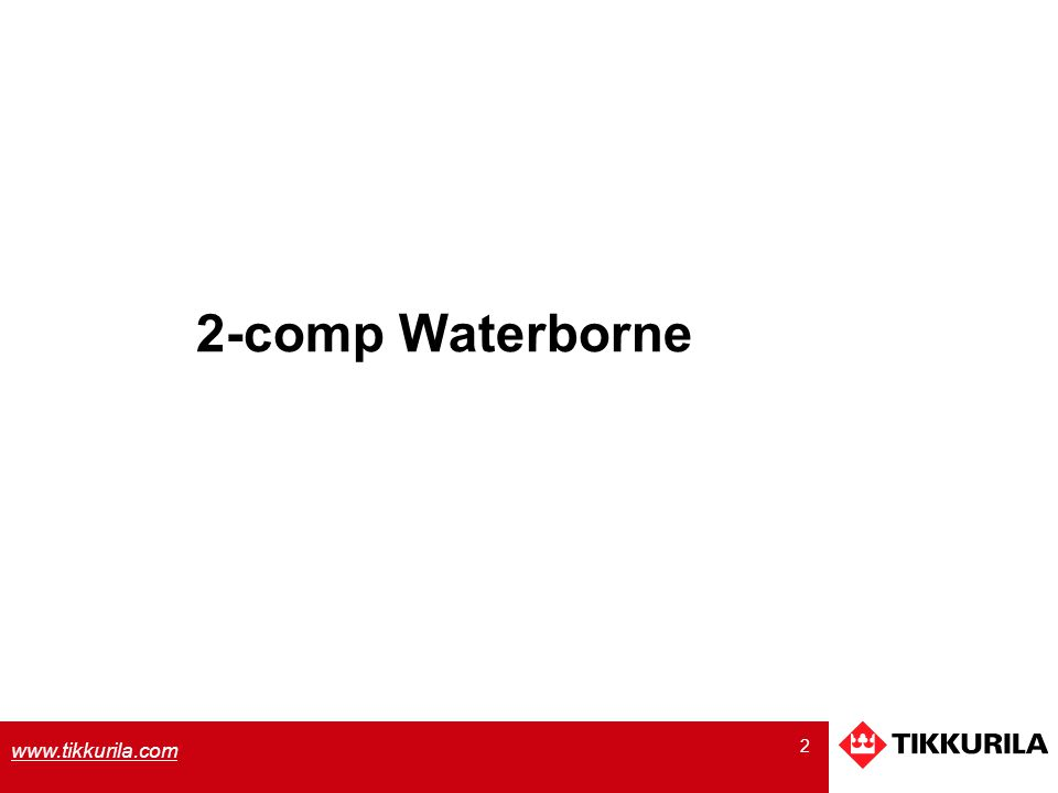 2-comp Waterborne
