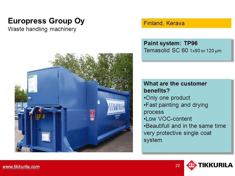 Europress Group Oy Finland, Kerava Waste handling machinery