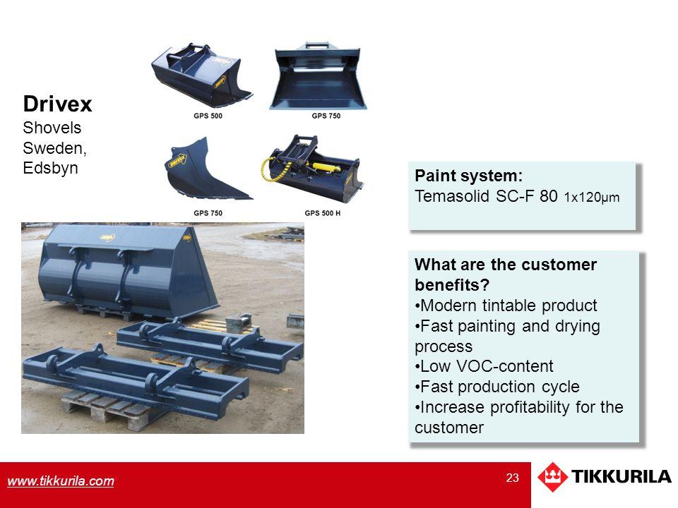 Drivex Shovels Sweden, Edsbyn Paint system: Temasolid SC-F 80 1x120µm