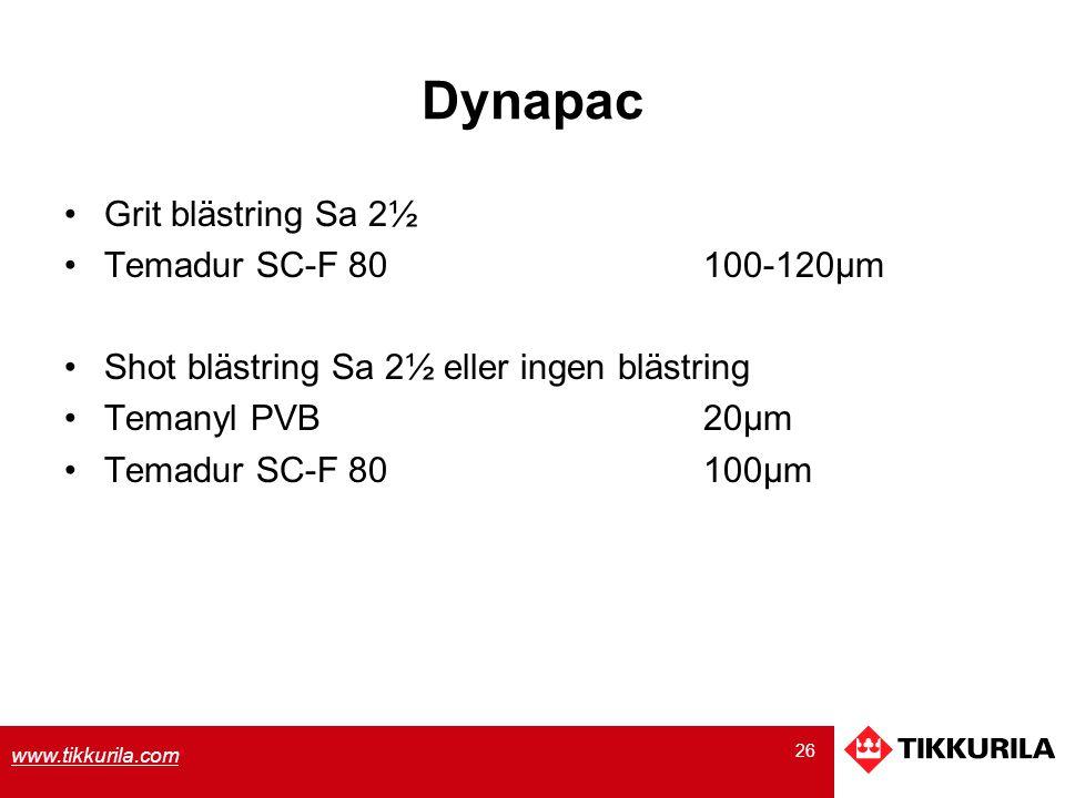 Dynapac Grit blästring Sa 2½ Temadur SC-F 80 100-120µm