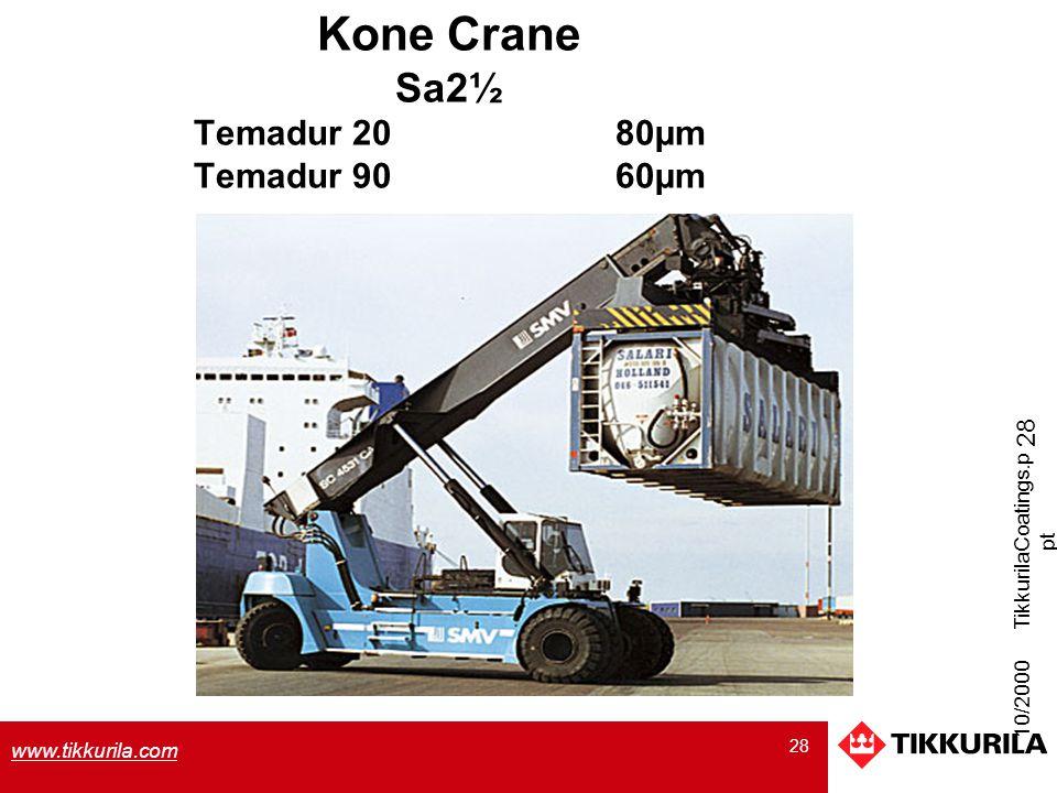 Kone Crane Sa2½ Temadur 20 80µm Temadur 90 60µm