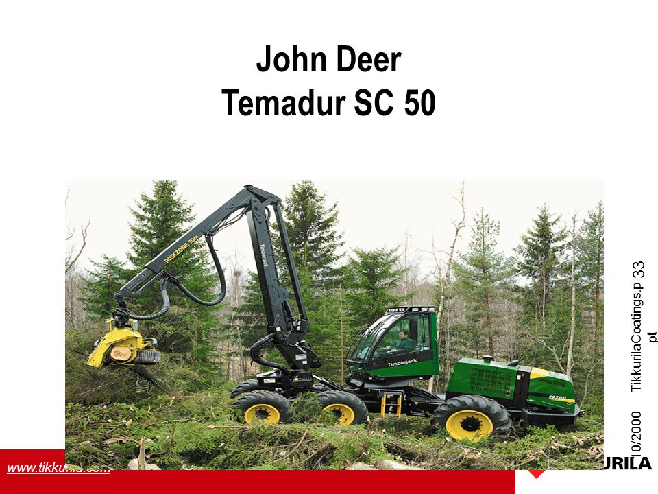 John Deer Temadur SC 50 TikkurilaCoatings.ppt 10/2000