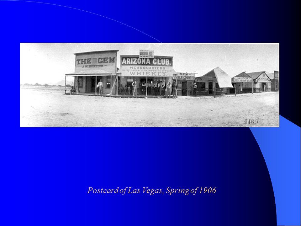 Postcard of Las Vegas, Spring of 1906