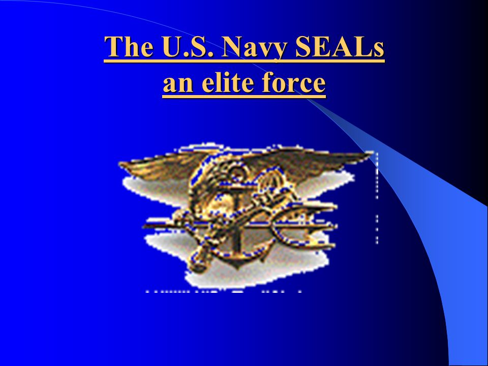 The U.S. Navy SEALs an elite force