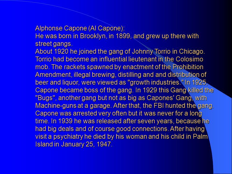 Alphonse Capone (Al Capone):