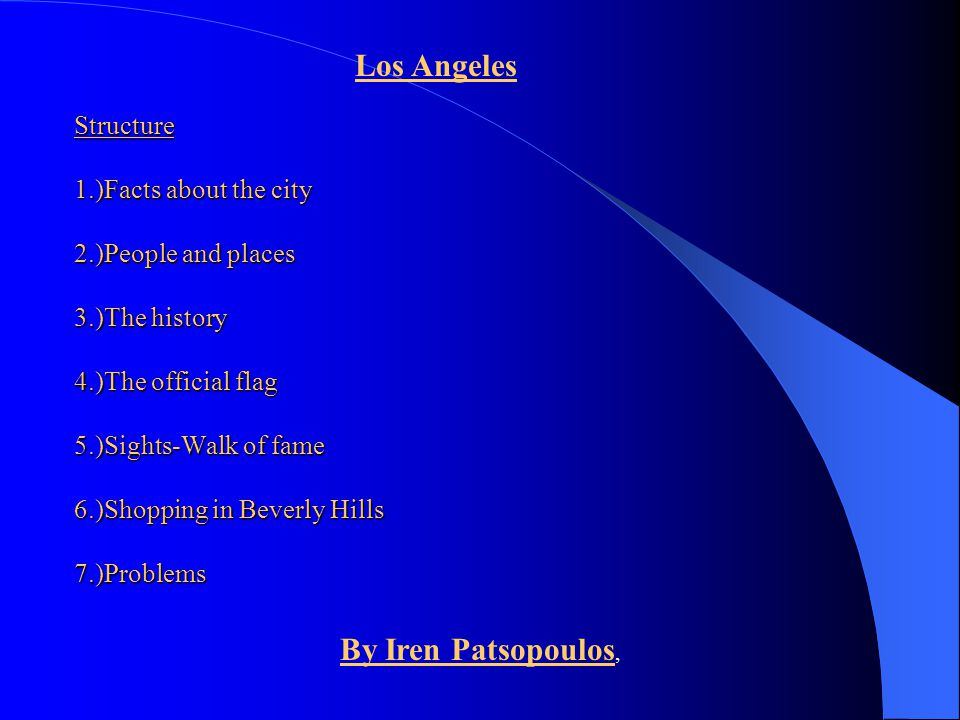 Los Angeles By Iren Patsopoulos,