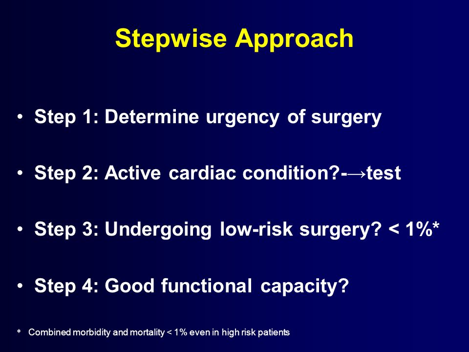 Stepwise Approach Step 1: Determine urgency of surgery
