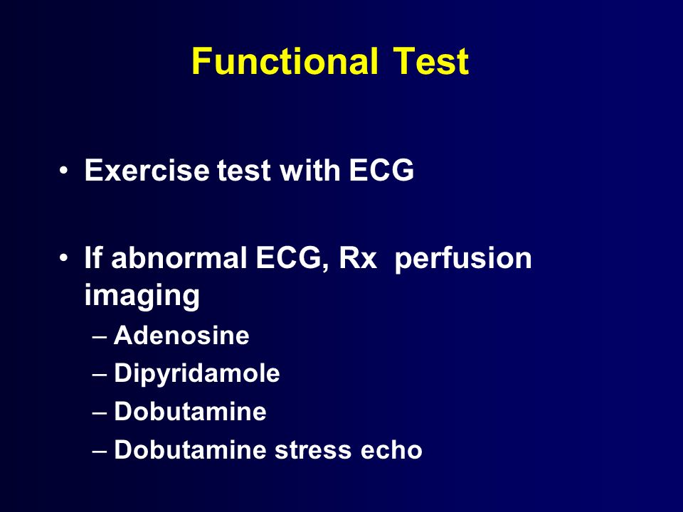 Functional Test Exercise test with ECG