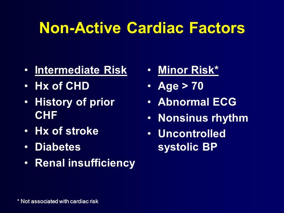 Non-Active Cardiac Factors