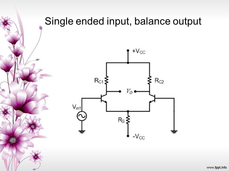 Single ended input, balance output