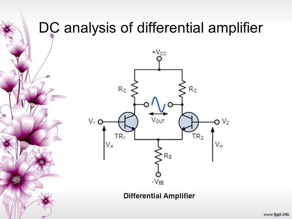 DC analysis of differential amplifier