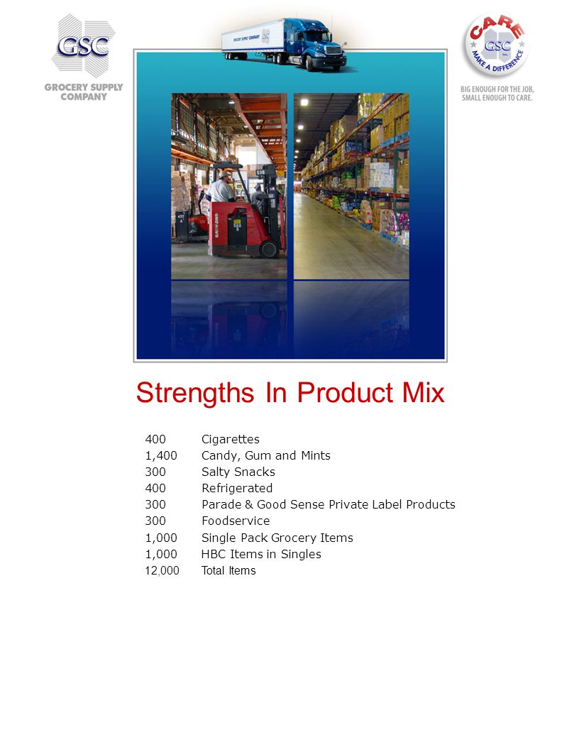 Strengths In Product Mix