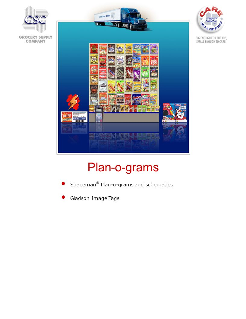 Plan-o-grams Spaceman® Plan-o-grams and schematics Gladson Image Tags