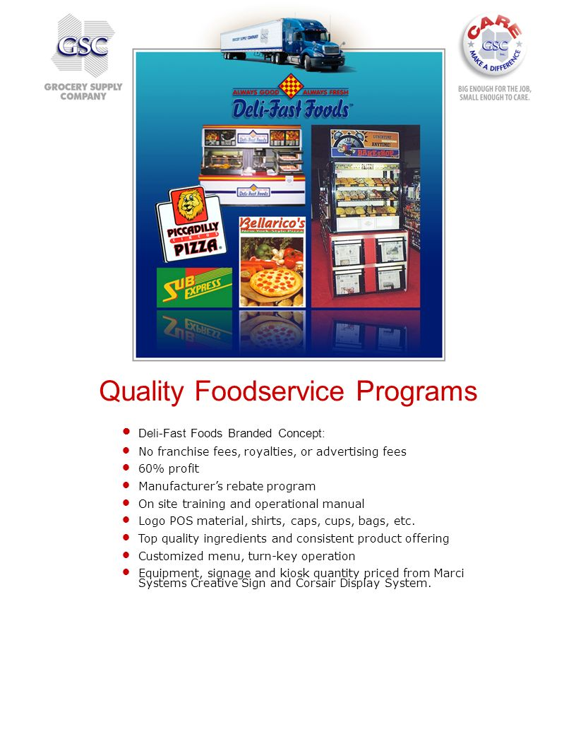 Quality Foodservice Programs