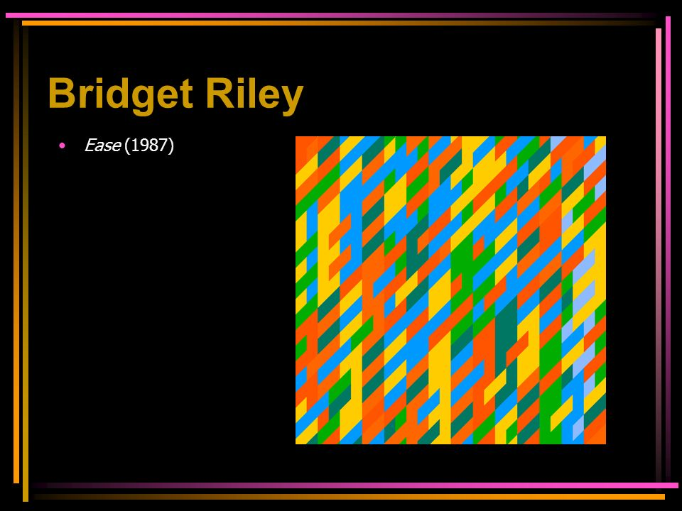 Bridget Riley Ease (1987)