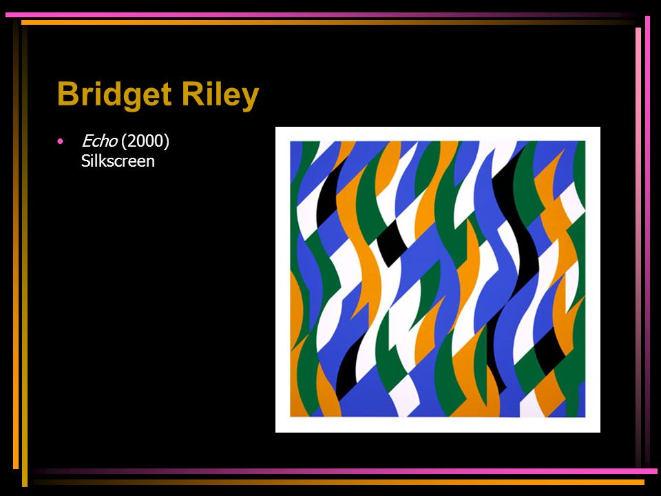 Bridget Riley Echo (2000) Silkscreen