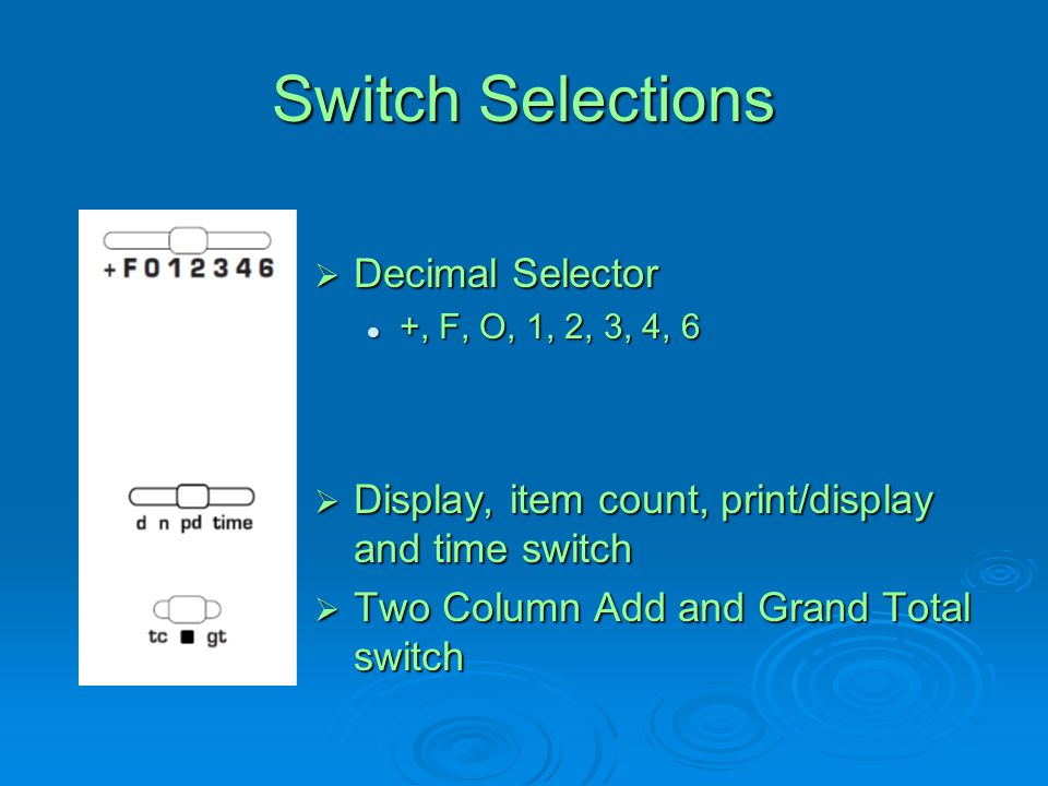 Switch Selections Decimal Selector